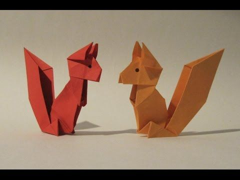 Origami Squirrel - Easy Origami Tutorial - How to make an origami squirrel - YouTube