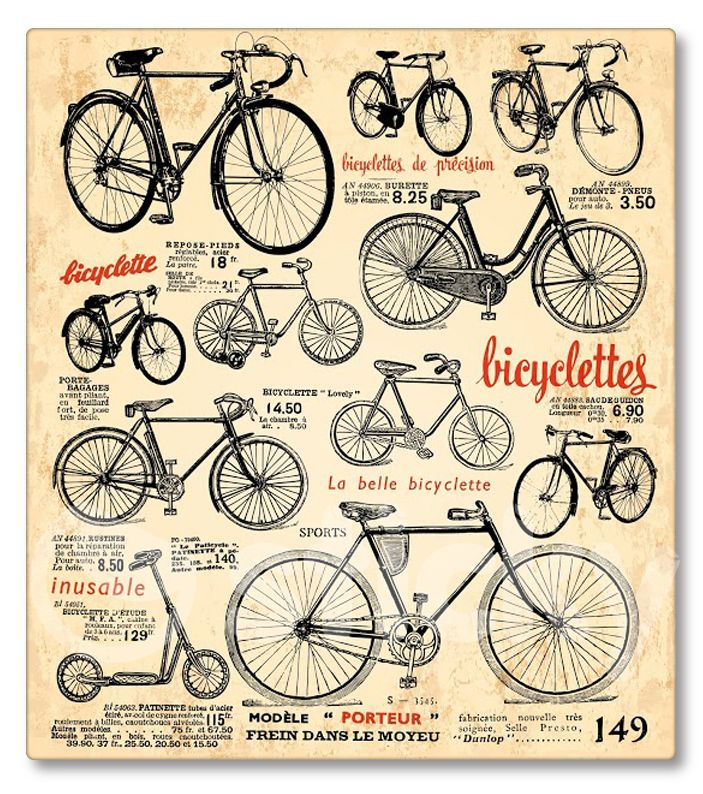 Canvas print RETRO BICYCLE by Sticky!!!