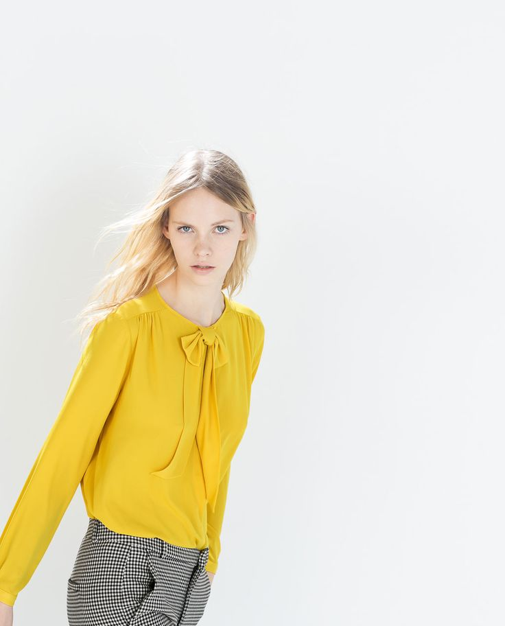 Image 4 of SHIRT WITH BOW COLLAR from Zara