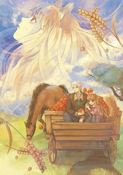 spice and wolf!!! now my fav anime, just started watching but I love it!!! <3