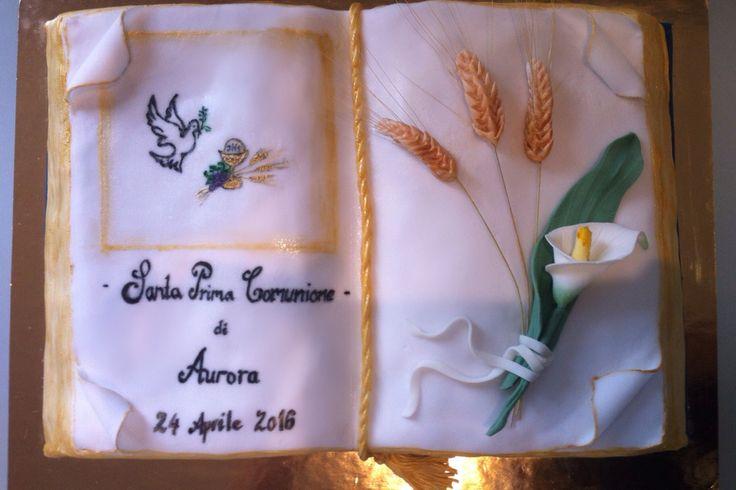 Torta Prima Comunione - Torta Bibbia- le dolci creazioni di Camilla Jesholt Buffatti