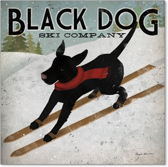 Black Dog Ski by artist Ryan Fowler