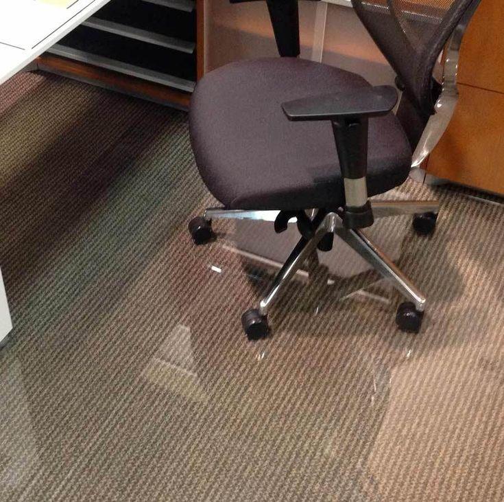 Glass Office Chair Mats Never Dent Mats by Vitrazza