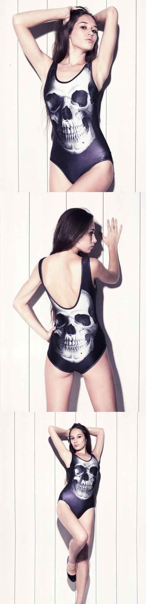 Shop some badass skull swimwear - from bikinis, sharkinis, monokinis, full body suit just to name a few.