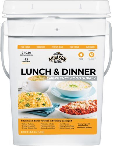 Food And Drink: Lunch And Dinner Emergency Food Supply Bucket Survival Meals Long Term Storage BUY IT NOW ONLY: $57.38