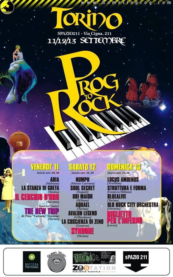 Festival Prog To Rock  - Il Programma - HamelinProg