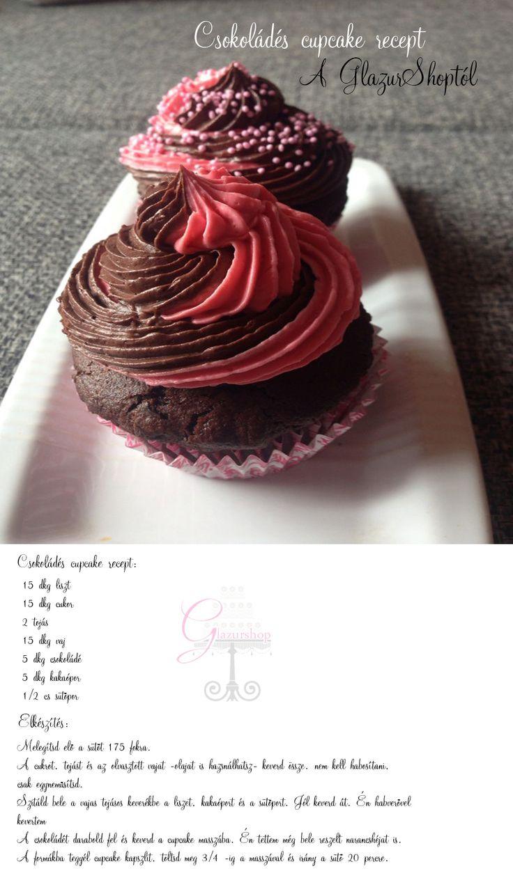 Csokoládés cupcake recept