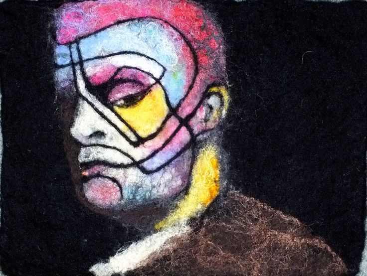 portret filcowany na mokro www.facebook.com/filcowewariacje/ zapraszam