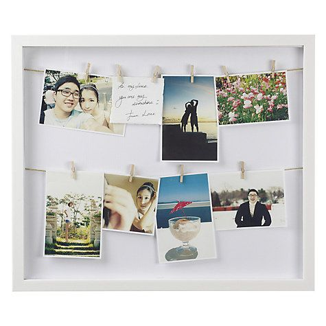 Buy Umbra Clothesline Multi-aperture Photo Frame, White Online at johnlewis.com