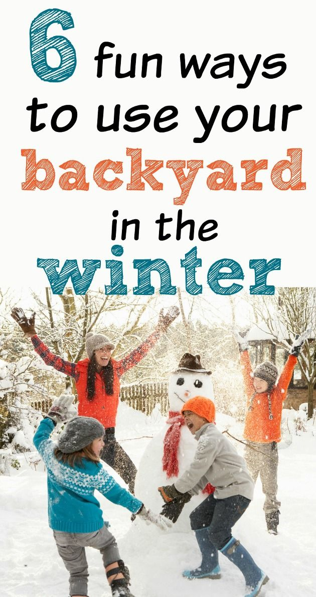 While the prime period for backyard enjoyment may have passed with summer, there are still a great many ways you can enjoy your backyard during the winter months. Here are 6 fun ways that you and your family can use your backyard, even in the dead of winter.