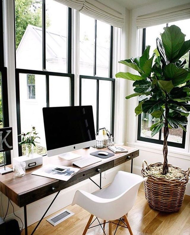 peaceful working space with a window seat, when you work from home this is the only way to do it