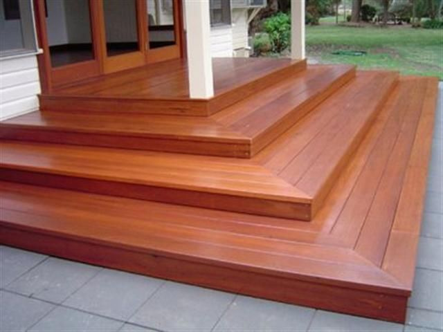 Square deck stairs montana outside pinterest wooden for Which timber for decking
