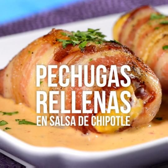 Video de Pechugas Rellenas en Salsa Chipotle