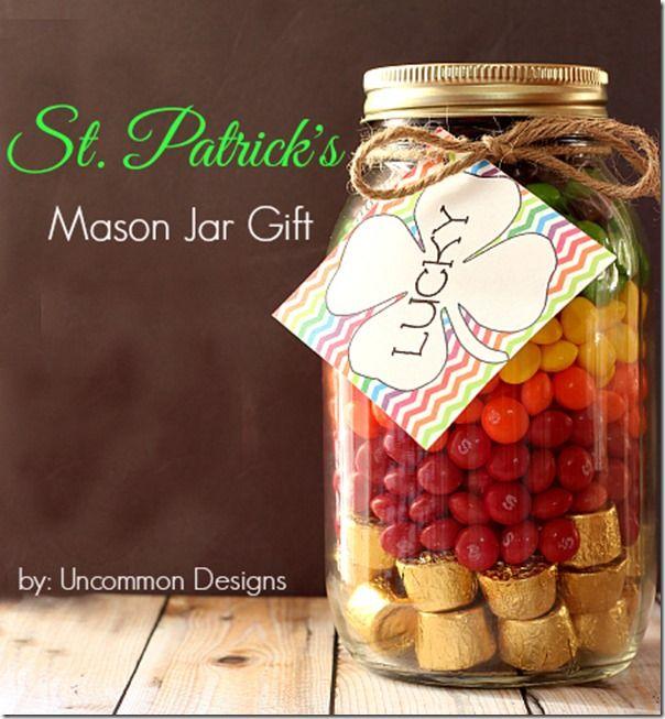 St. Patrick Day Gift Idea | Mason Jar Craft Ideas for St. Patrick's Day @ Mason Jar Crafts Love