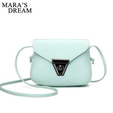 bd24039493f5 Mara s Dream 2018 Fashion Women Small Crossbody Bags PU Leather Candy Color  Small Flap Shoulder Bags for Girls Messenger Bag