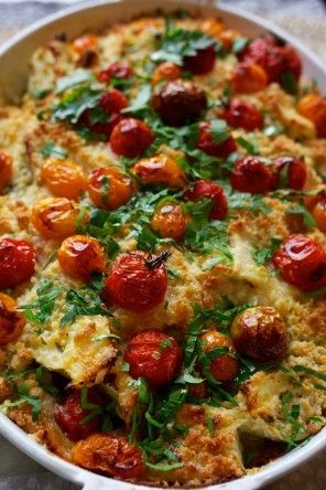 Fennel, cherry tomato and crumble gratin  from  The Washington Post by Yotam Ottolenghi and Sami Tamimi