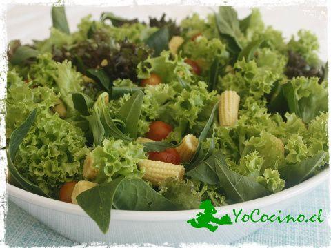Ensalada verde con reducción de naranja. www.yococino.cl