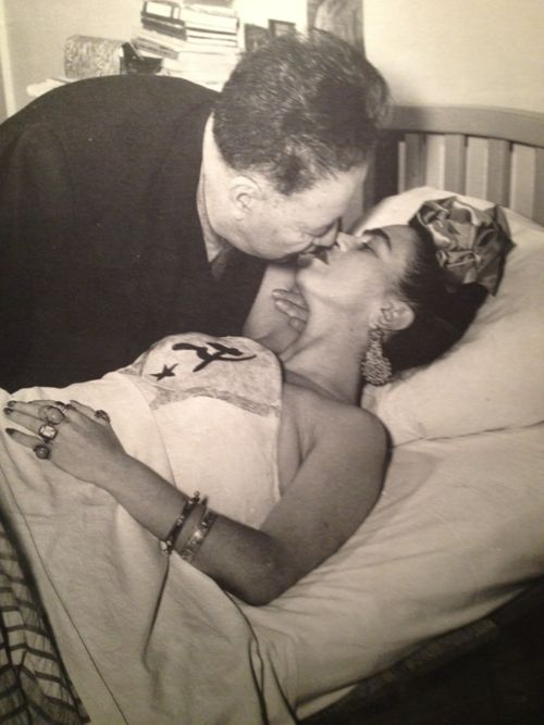 frida kahlo & diego rivera. Frida suffered from chronic illness and was known for her artwork, much of which she did from her bed.
