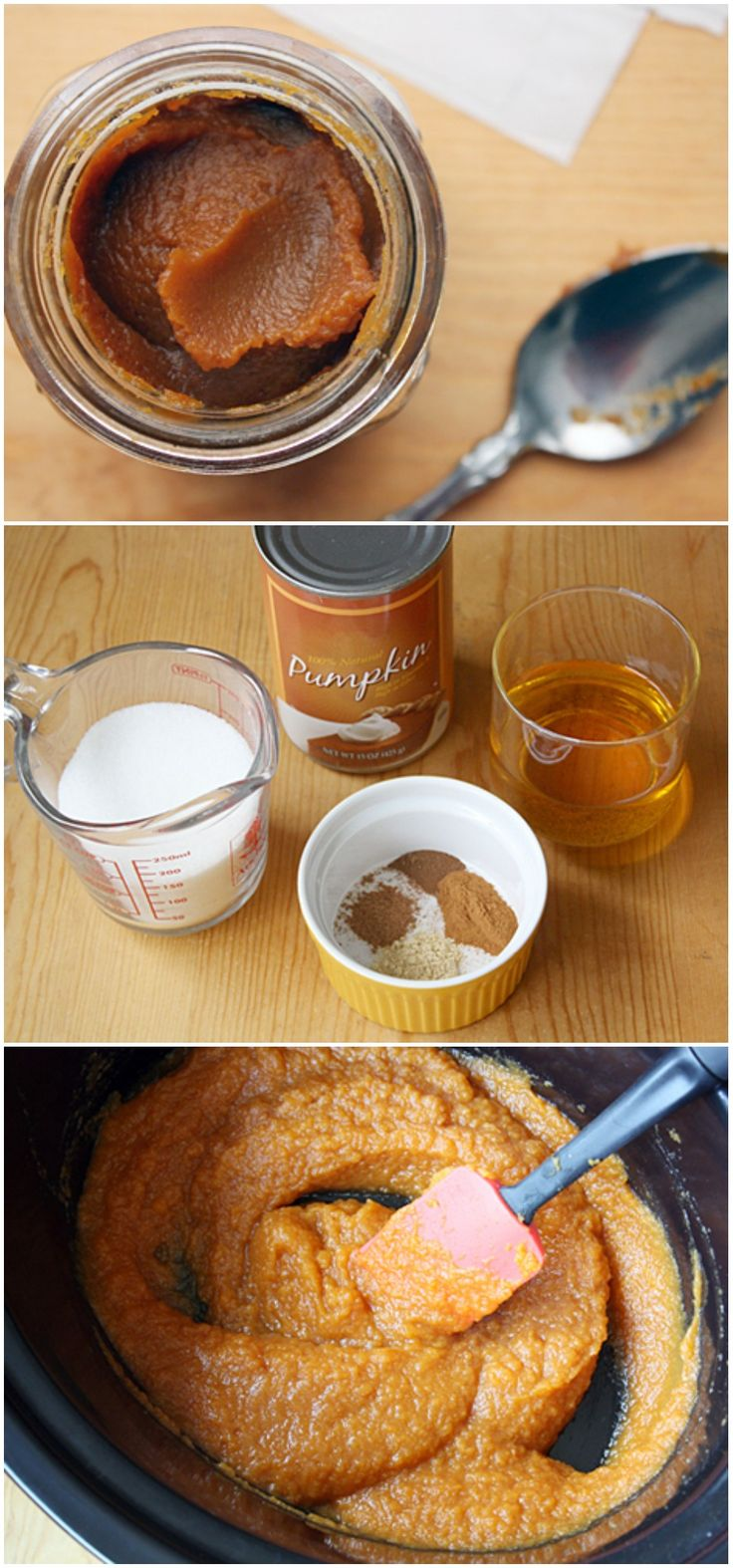 Crock Pot Pumpkin Butter #slowcooker...Because I love all things pumpkin! Best stuff ever!