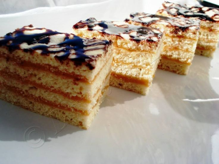 Cake with cream caramel
