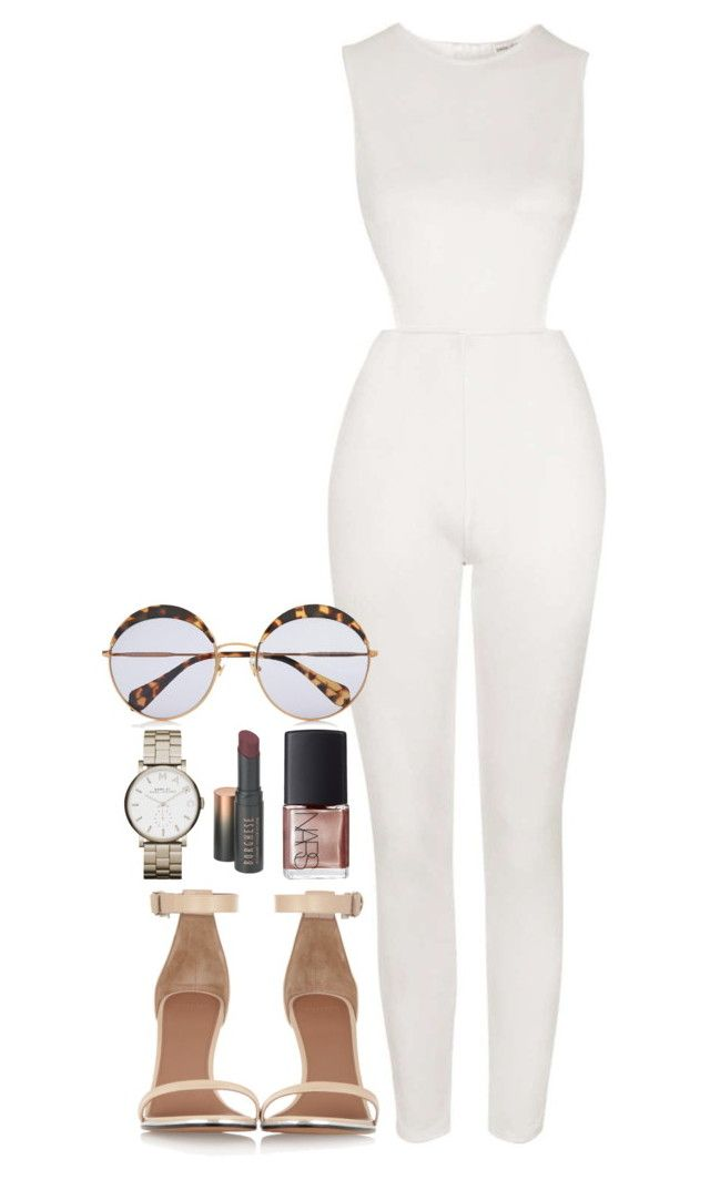 """Untitled #303"" by margaridasilv ❤ liked on Polyvore featuring Topshop, Marc by Marc Jacobs, NARS Cosmetics, Miu Miu, Borghese and Givenchy"