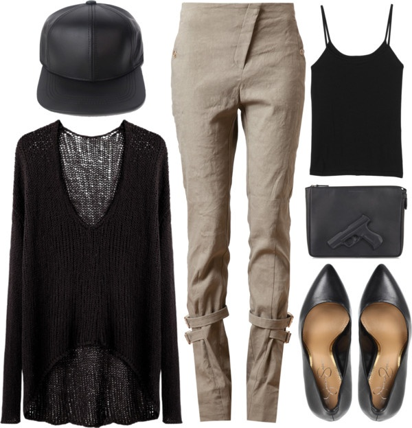 """""""guns."""" by goldiloxx ❤ liked on Polyvore"""