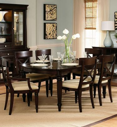 Enlarge Image Manufacturer Details View Entire Collection Finish The Room 7 Pc Tuxedo Park Rectangular Piece Dining SetDining