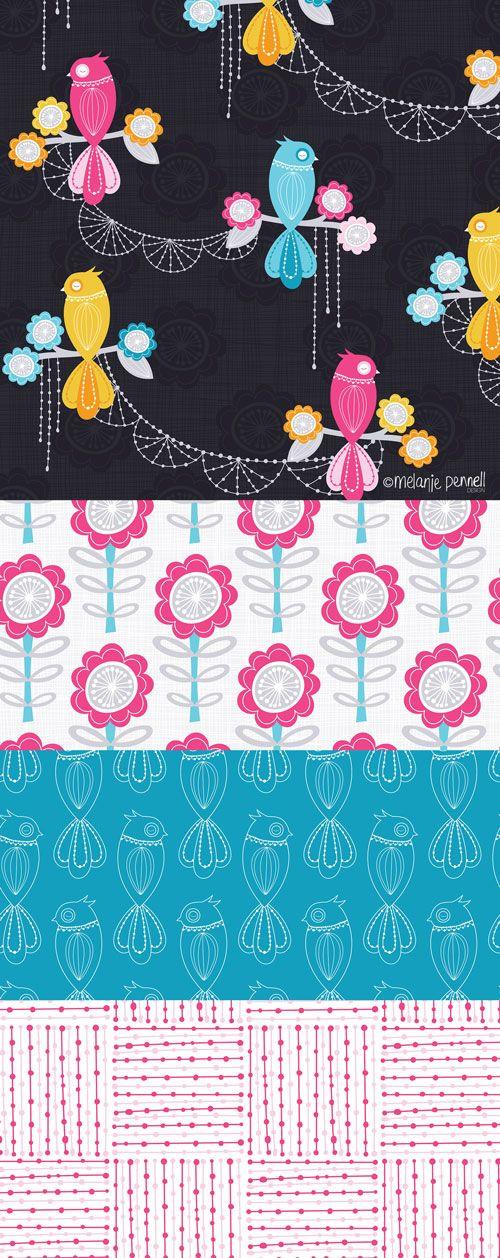 Kota Birds © Melanie Pennell Design / Surface Pattern Design