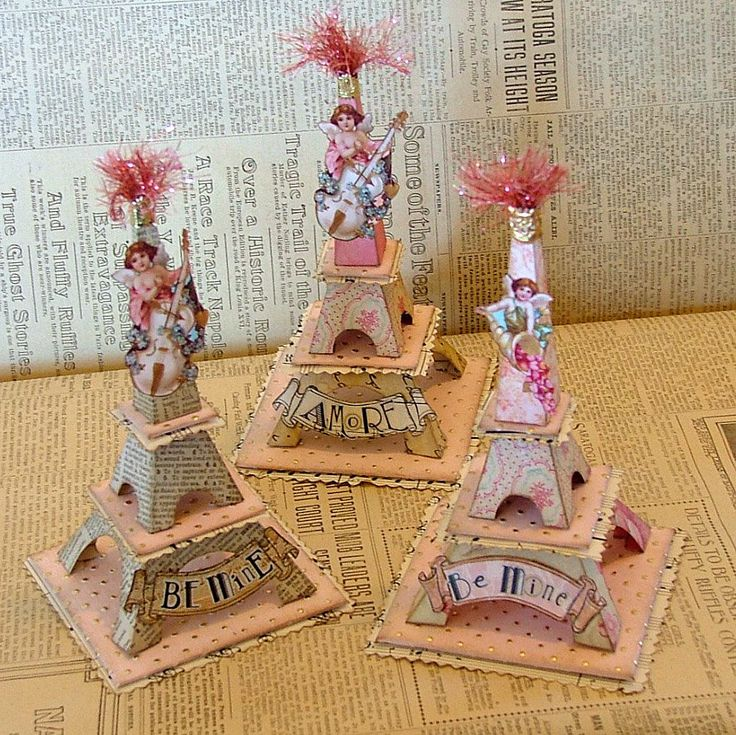 Valentine Eiffels - I want to make these adorable projects