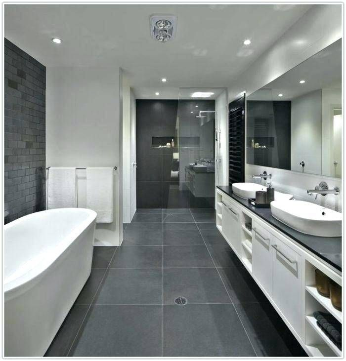 Bathroom Ideas With Grey Tiles In 2020 Gray And White Bathroom Black Bathroom Dark Gray Bathroom