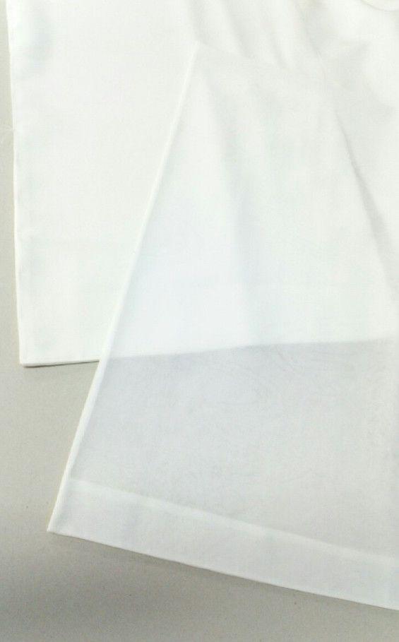 ↑袷の長襦袢(上)と単衣の長襦袢(下)のお袖。