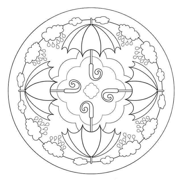 Sonbahar Mevsimi Mandala Etkinlikleri Boyama Sayfalari Mandala Mandala Boyama Sayfalari
