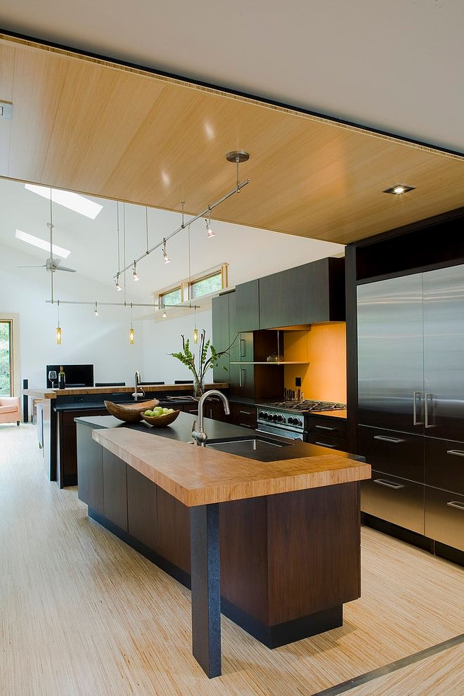 Modern kitchen design ideas - #wood #wooden #modern #contemporary #moderninterior #interiordesign #interior #design