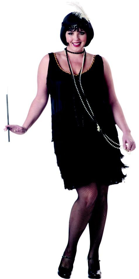 have fun this halloween and channel the 20s in this cute flapper costume california costumesplus size - Halloween Costume Plus Size Ideas