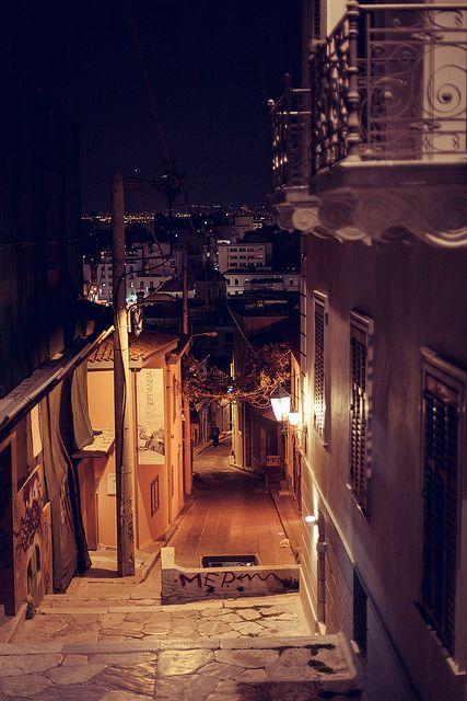 Stairs. Night at Plaka, Athens #athens #plaka #greece
