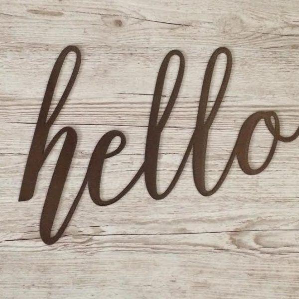 Hello Script Sign – JDH Iron Designs