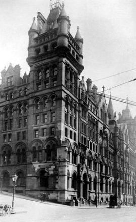 Old photograph of the Christian Institute, Glasgow, Scotland