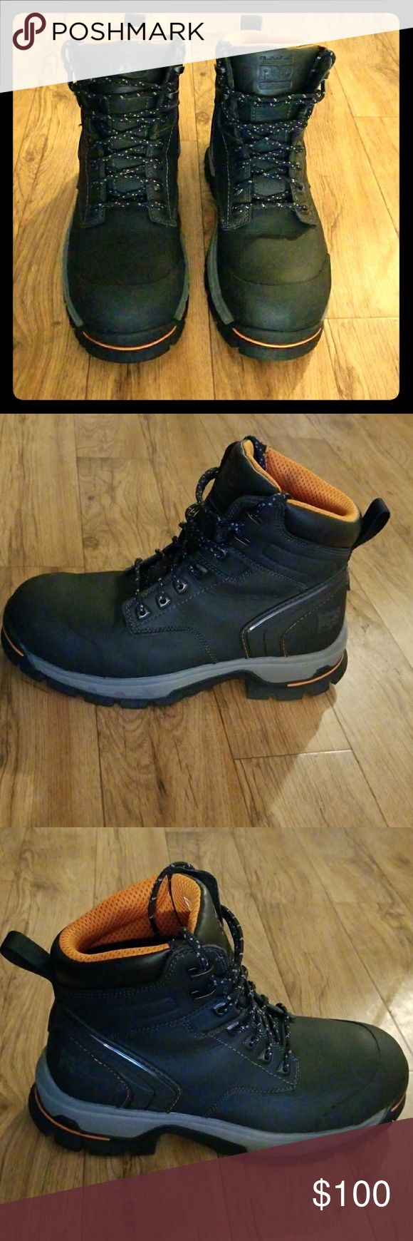 "Timberland Pro boots Timberland Pro boots Stockdale 6"" Alloy Safety Toe 1064.   Only wore once not the right fight for me. Timberland Shoes Boots"