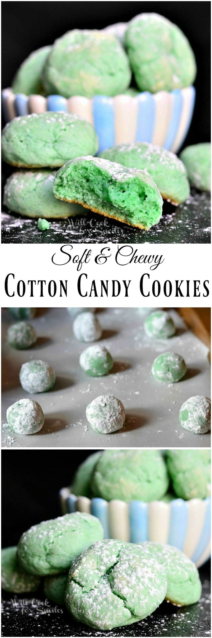 Soft Chewy Cotton Candy Cookies. Best...cookies...ever!