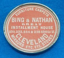BING U0026 NATHAN Furniture CLEVELAND OHIO   RARE Vintage Advertising Pocket  Mirror