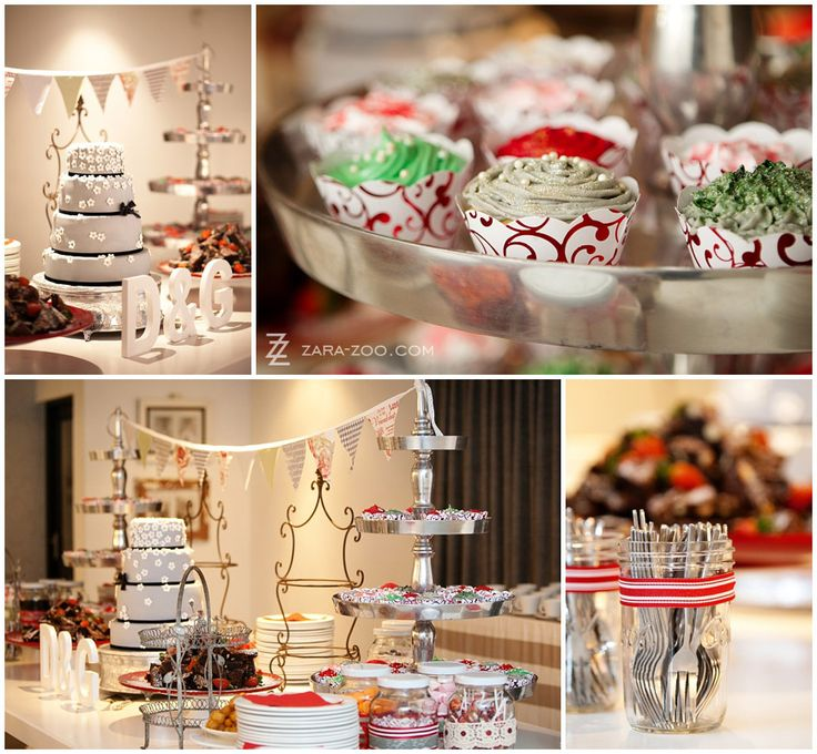 Cupcakes, Candy and cake with monogram