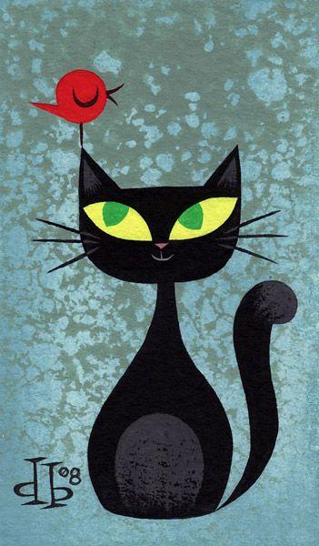 Illustration by Drake Brodah black cat