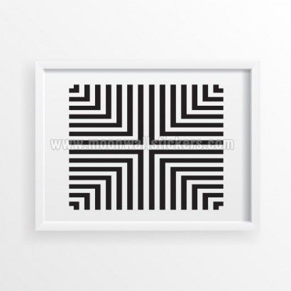 Lines Poster - Moon Wall Stickers
