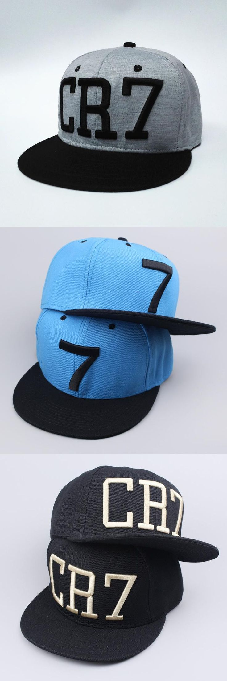[Visit to Buy] 2016 new Cristiano Ronaldo gray CR7 Baseball Caps hip hop Sports Football hat men&women Snapback cap #Advertisement