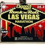 December 2012 medal from the Rock 'n Roll Las Vegas Marathon