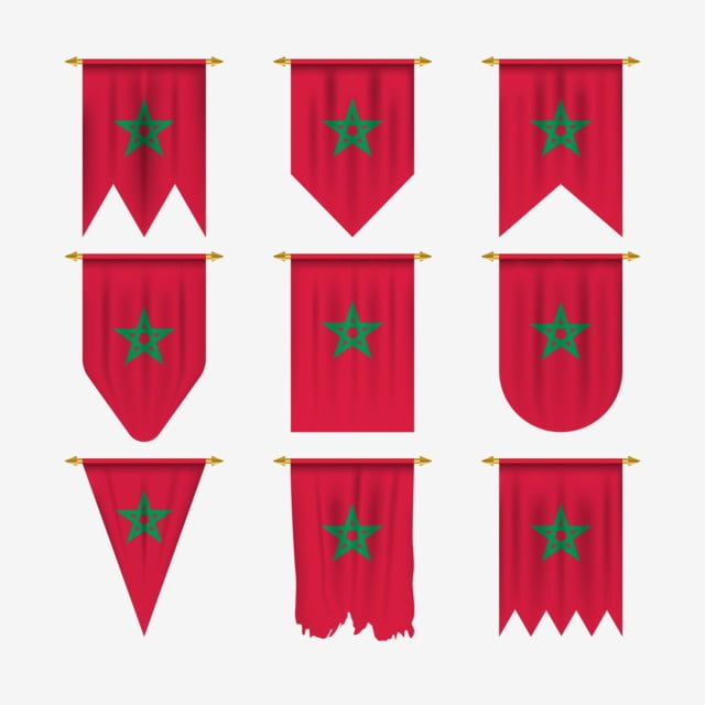 Morocco Flag In Various Forms Morocco Flag Morocco Flag Png And Vector With Transparent Background For Free Download Morocco Flag Flag Flag Vector