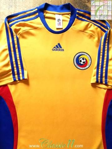 Official Adidas Romania home basic football shirt from the 2008 09 season.  This is the basic version of the jersey featuring lightweight transfer ... ef8150d3d