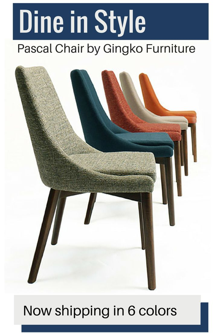 Super comfortable and with the perfect combination of modern and classic lines, the Pascal Chair is upholstered in a contemporary woven texture. The exposed solid Walnut base enhances the chair's cont