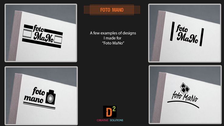 """Some logo designs I made for a design competition by """"Foto MaNo"""""""