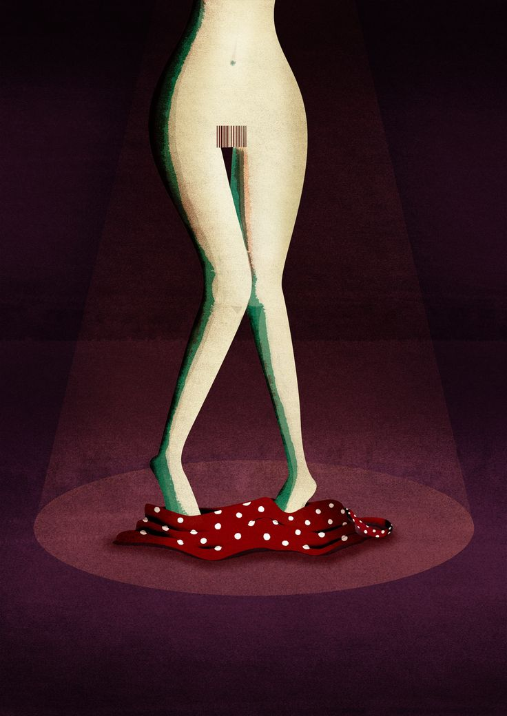 © Sara Gironi Carnevale - Illustration about gender discrimination and commercialization of women's body.